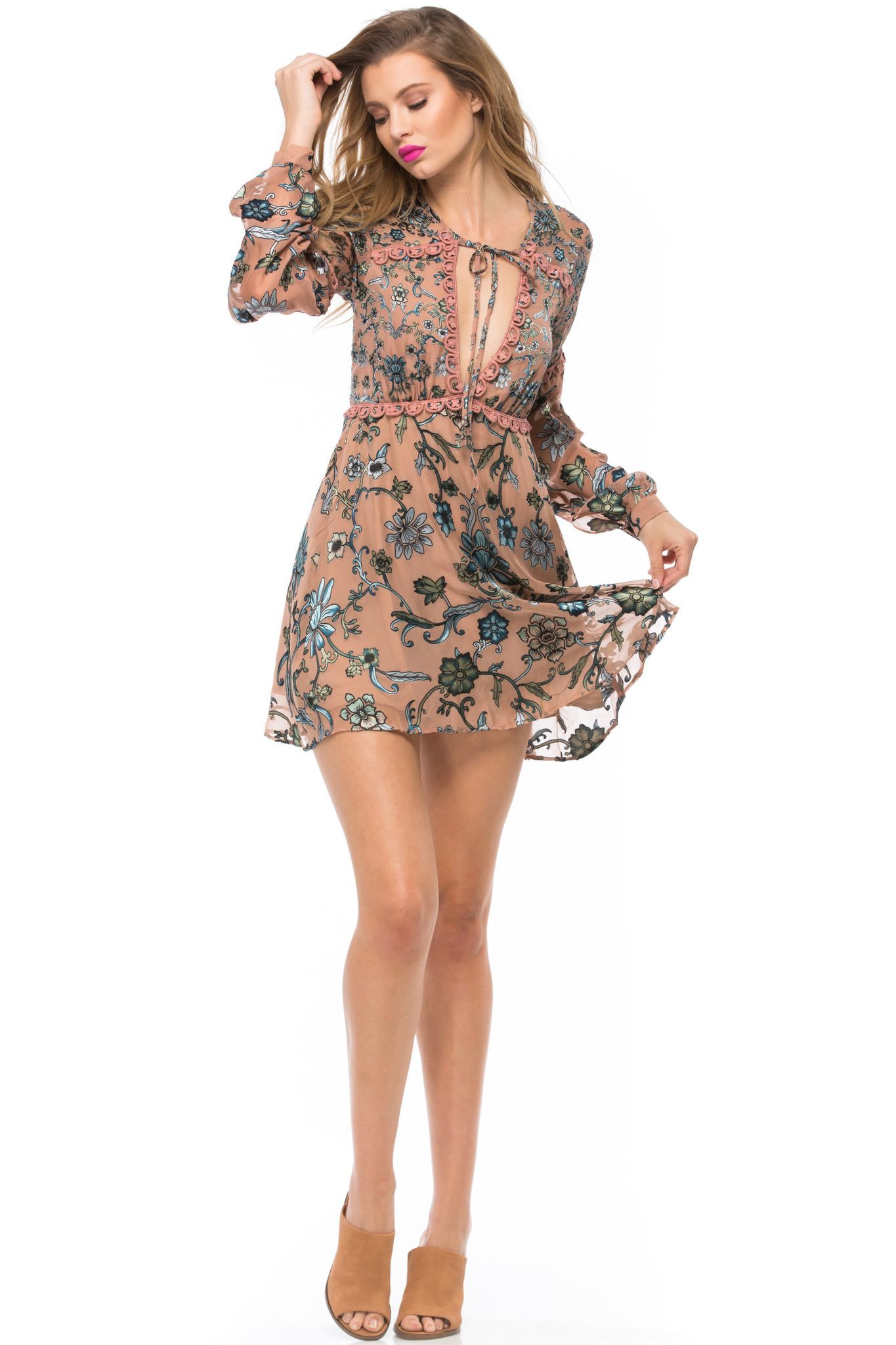 2020 Women Dress Casual Dress Print Pink Homecoming Dress Business Casual Shirts For Ladies