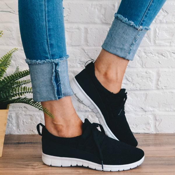 Faddishshoes Adjustable Laces Suede Sneakers