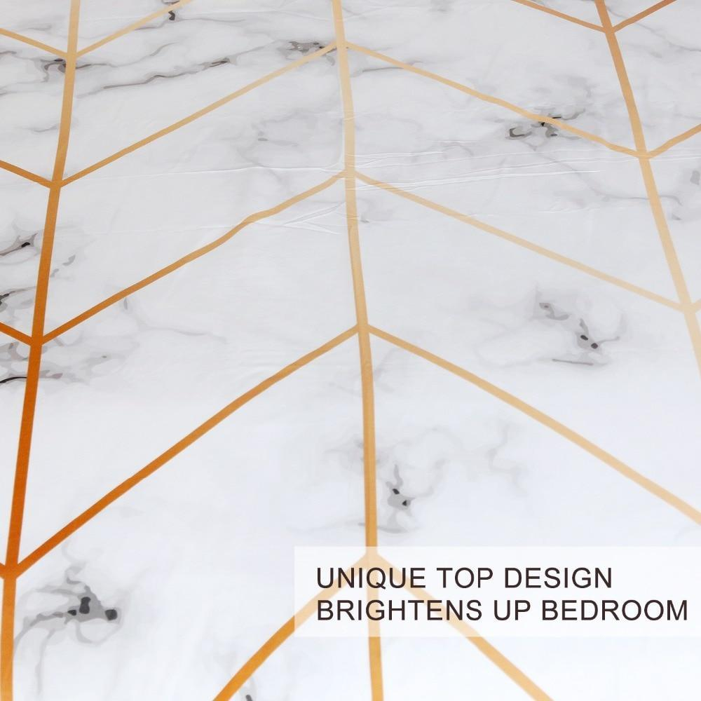 Modern Marble Texture Bedding Set Of 3-Piece .