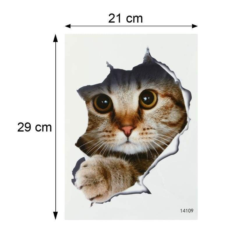 Wall stickers toilet cat bathroom waterproof can be removed cartoon