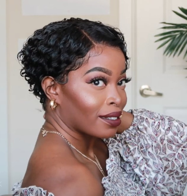 Short Curly Pixie Cut Bob | No work Needed Lace WIG