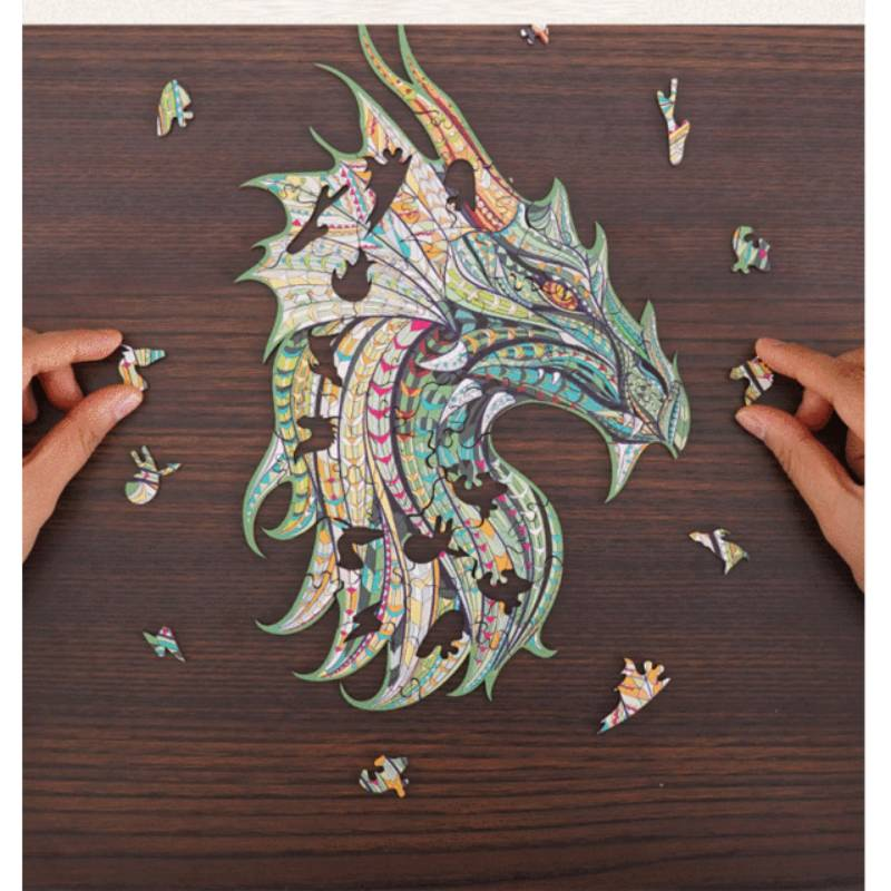 Magic Wooden Jigsaw Puzzle - Guarding Dragon🐉 | Best Gift for Children