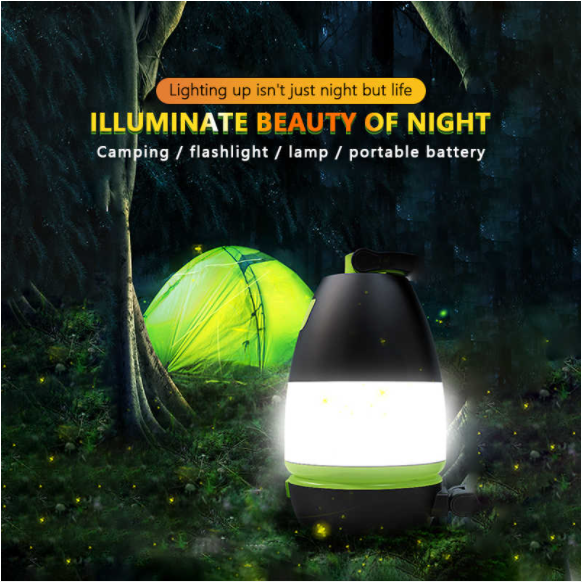 3 in 1 Portable Outdoor LED Lantern