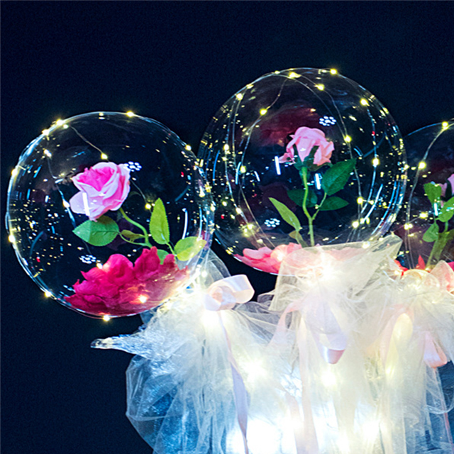🌹🌹(Limited Offer)LED Luminous Balloon Rose Bouquet