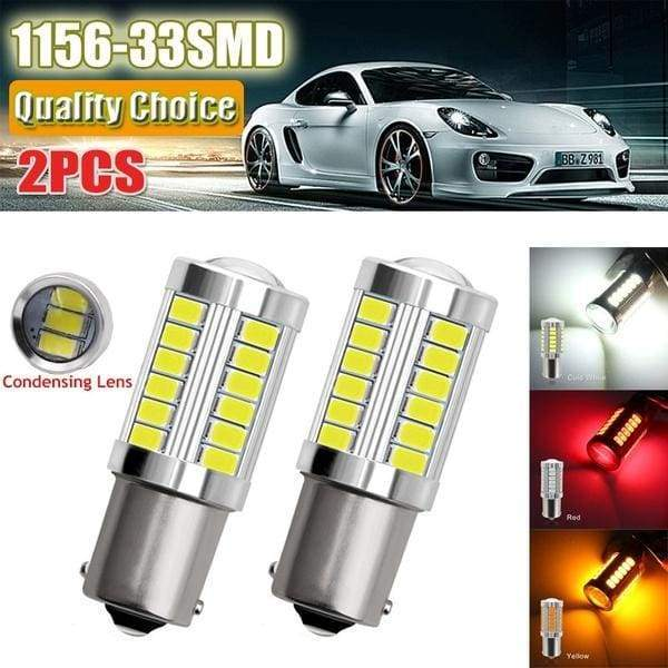 2pcs 1156 7506 BA15S P21W 5630 5730 LED Car Tail Bulb Brake Lights 12V Auto Reverse Lamp Daytime Running Signal Light Z4