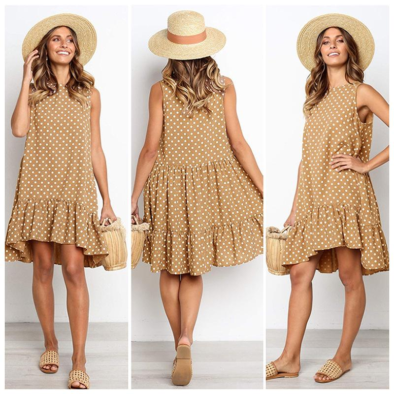 Polka Dot Sleeveless Mini Dress
