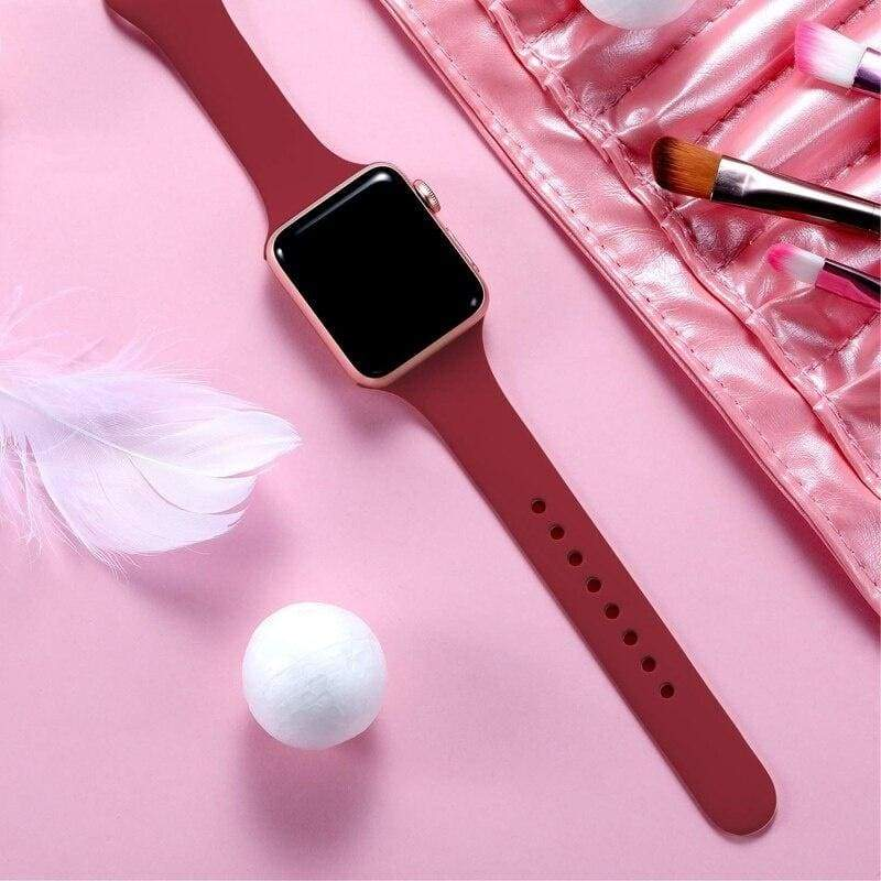 Slimming strap for Apple watch 4 band 40mm 44mm Apple watch band 38mm 42mm iWatch bracelet series 4/3/2/1 silcone Watchband