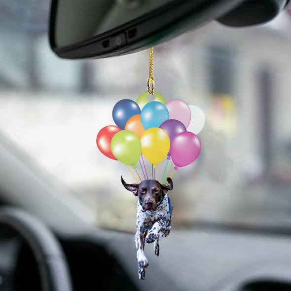 German Shorthaired Pointer fly with bubbles dog hanging ornament