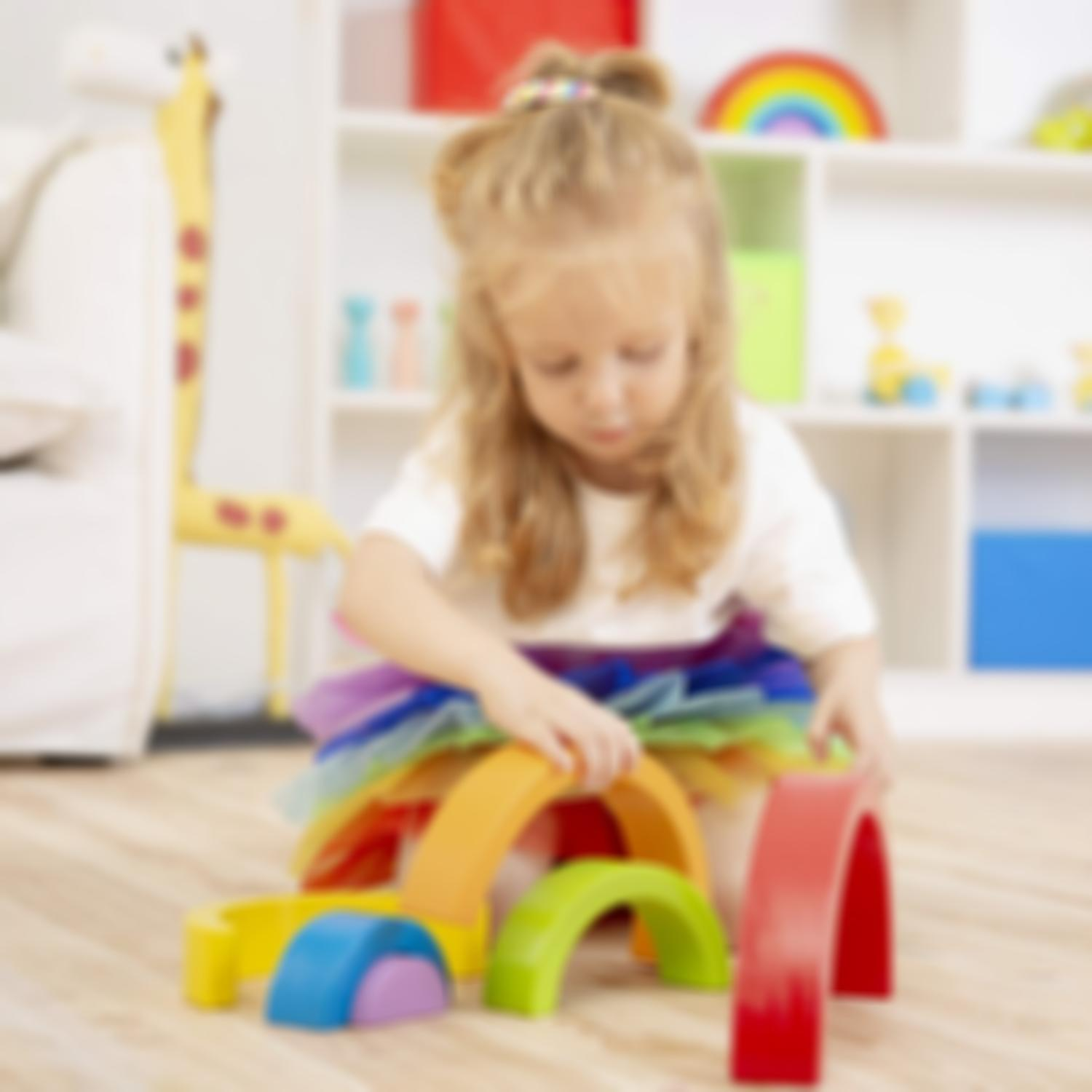 (CHRISTMAS PROMOTION — Save 50%OFF)Stacking Wooden Rainbow