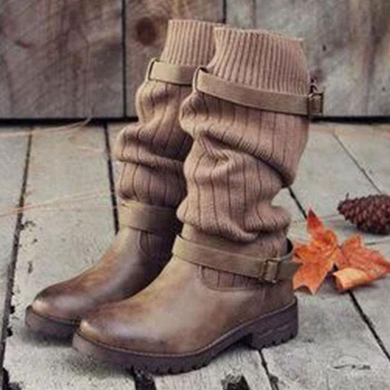 Knitted Wool High Elastic Martin Boots