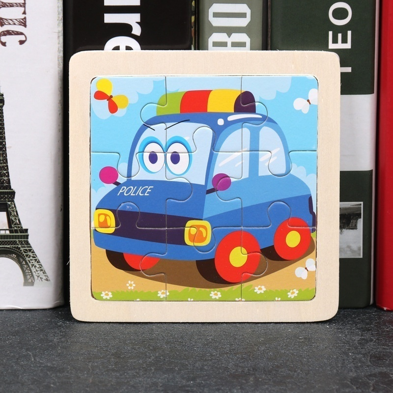Wooden mini jigsaw puzzle children early education puzzle animal jigsaw children's toys