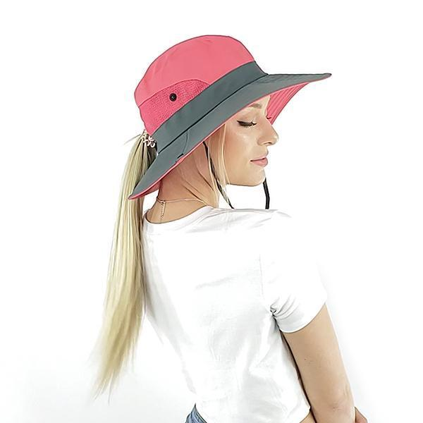 2020 new UV protection Ponytail sun hat