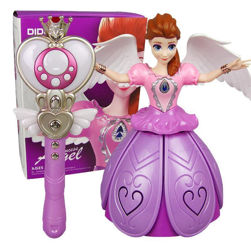(Buy 2 Free Shipping) Remote Control Girl Dancing Princess Music Doll Toys