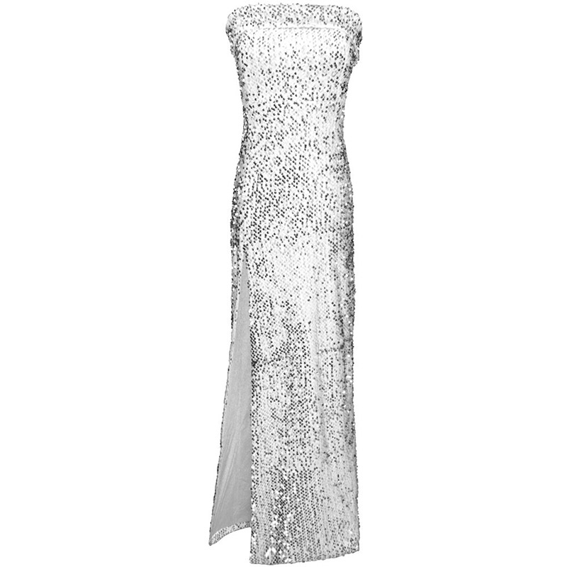 Split And Sexy Sequin Evening Dress