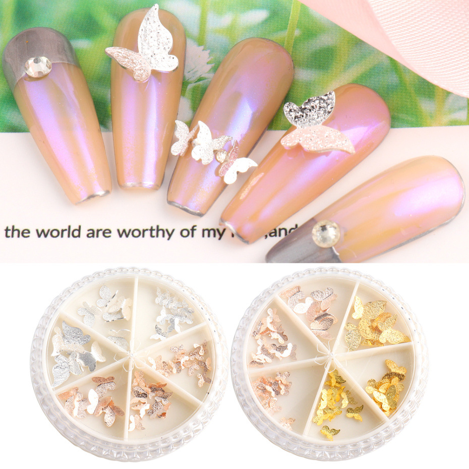 3D Butterfly Sequins Nail Art Decorations