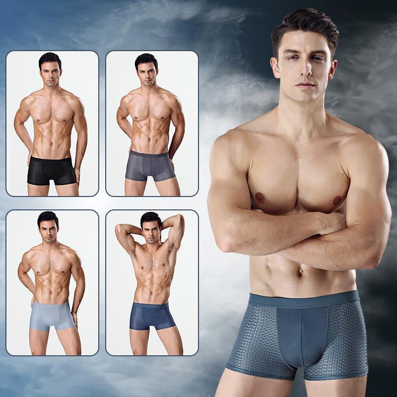 2020 Breathable Ice Silk Solid Men Cool Underpants🔥BUY 2 GET 2 FREE🔥