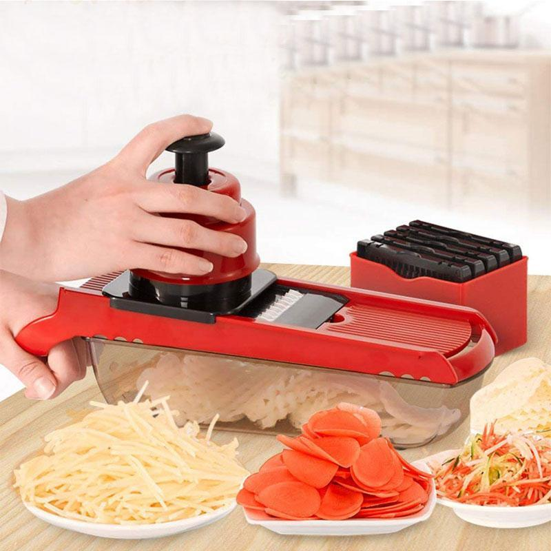 BREEZYLIVE Adjustable Fruit Vegetable Mandoline Julienne Slicer As Seen On TV