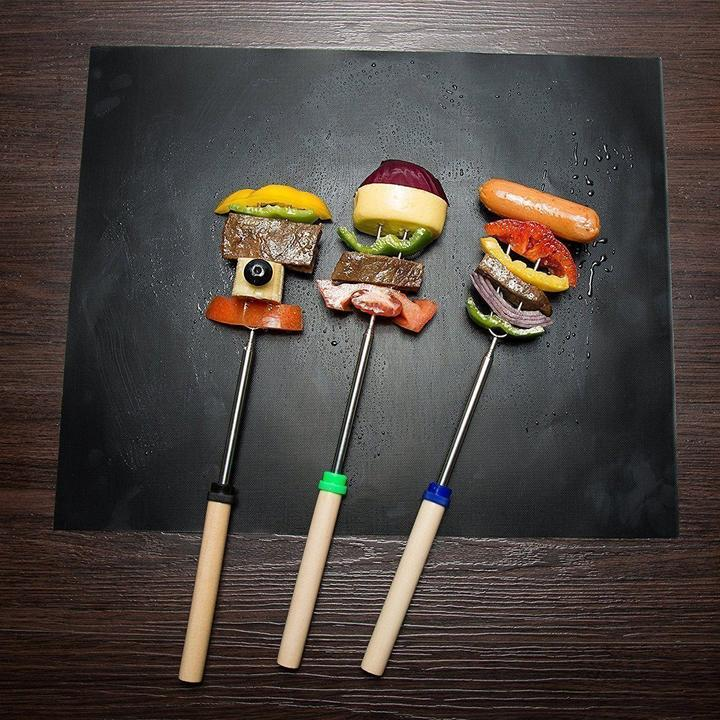 (50%OFF TODAY)Reusable Non-stick Grill Mat (Set of 2)