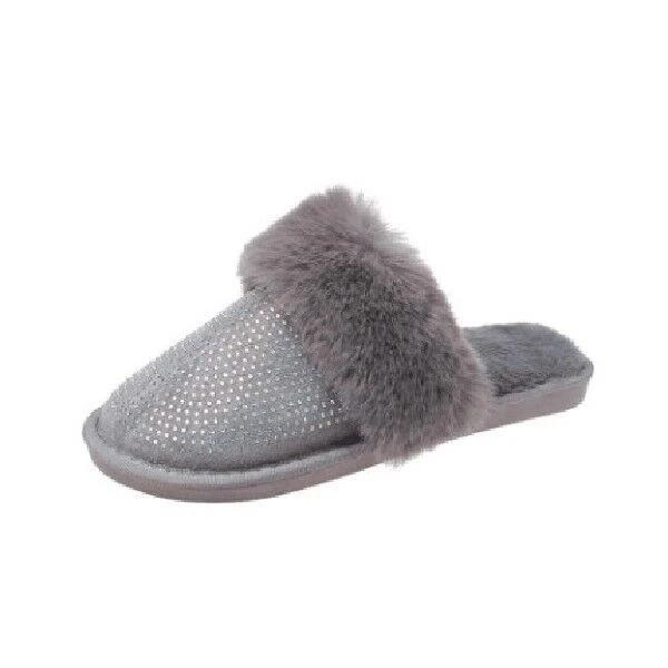 Lemmikshoes Diamond Faux Fur Slippers
