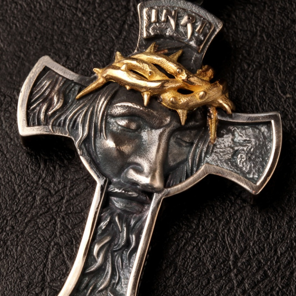 (💥New Year Flash Sale💥-48% OFF)Jesus Christ Face Crucifix Cross Pendant Necklace(Buy 2 get Extra 20% off)