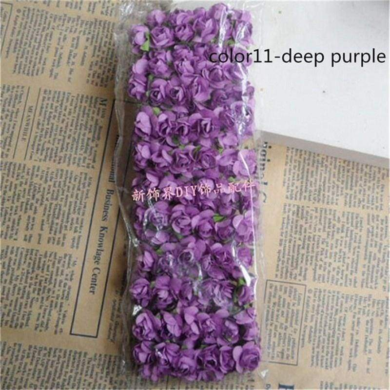 144PCS Flower Head Artificial Paper Flowers Rose Used For Wedding Party Craft Decoration