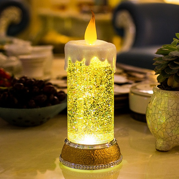 🔥Colour Changing LED Water Candle With Glitter🔥