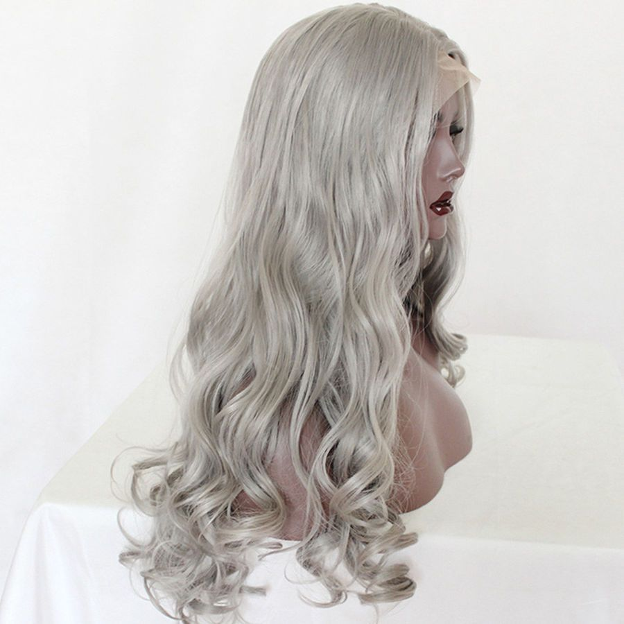 2020 New Gray Hair Wigs For African American Women Freya Wigs Merida Wig Eyebrow Color For Grey Hair Frontal And Closure Grey Hair Dark Roots