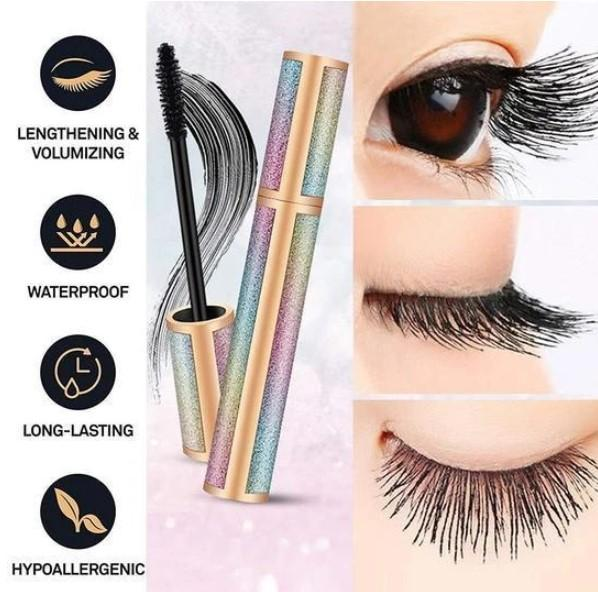 🔥BUY 3 GET 2 FREE - 4D Vivid Galaxy Waterproof Silk Fiber Thick Lengthening Mascara