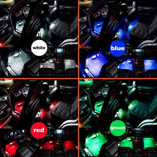 Car Fitg Car Headlights Multi Color LED System