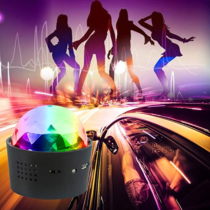 Car Fitg™ Mini Disco Ball Light | Multi-coloured Car Decoration Light | Led Stage Light