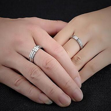 Women's Couple Rings Band Ring Pearl Silver Titanium Steel Circle Ladies Bridal Wedding Party Jewelry Love