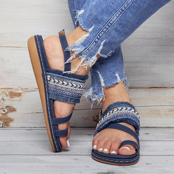 Lemmikshoes Fashion Casual Fringed Beach Sandals