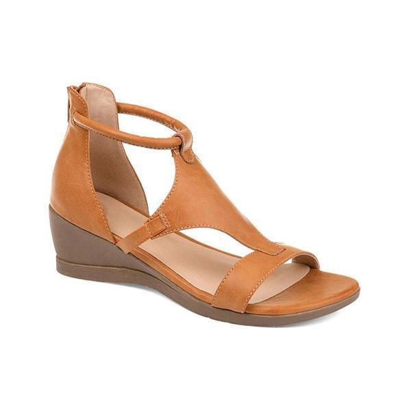 Zoeyootd Women Casual Daily Wedge Sandals