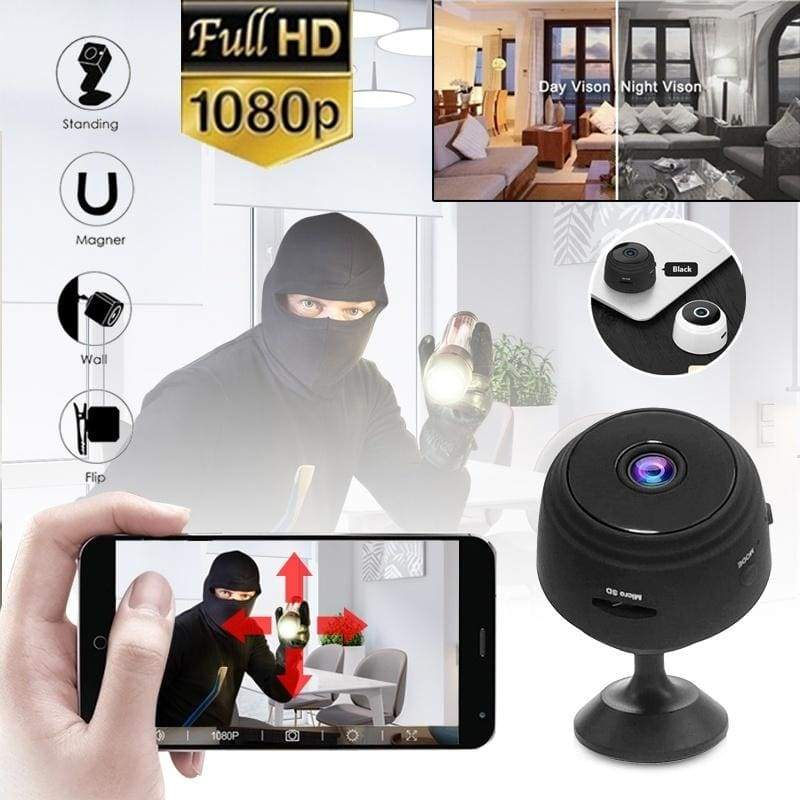 HD 1080P Mini WiFi Camera Magnetic Adsorption Night Vision Home Security Camera With Gift Camera Holder