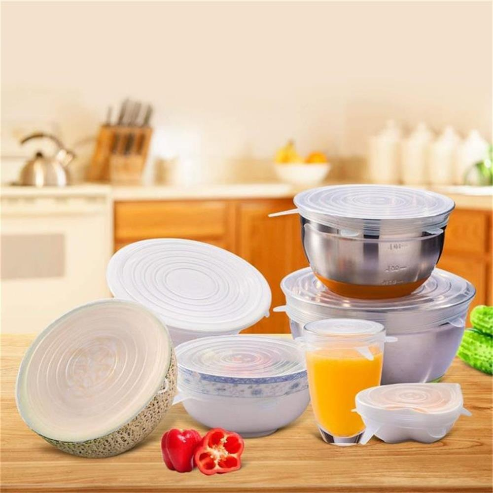 (CHRISTMAS HOT SALE - SAVE 50% OFF) 6 Reusable Food Silicone Packaging Lids - Buy 3 Get Extra 20% OFF