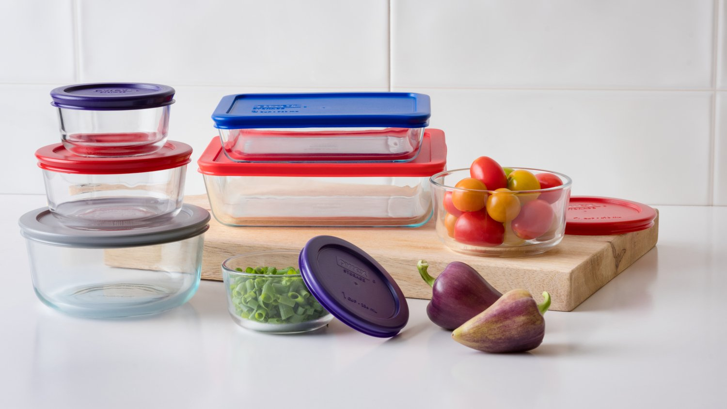 Pyrex Simply Store Glass Bakeware Set, 14 Piece