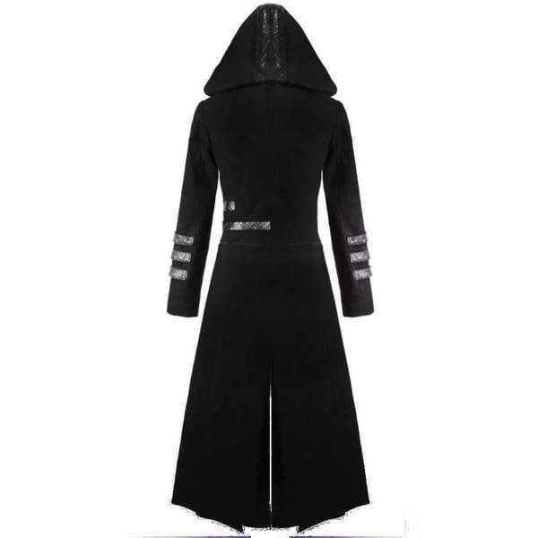 New Scorpion Mens Coat Long Jacket Gothic Steampunk Hooded Trench