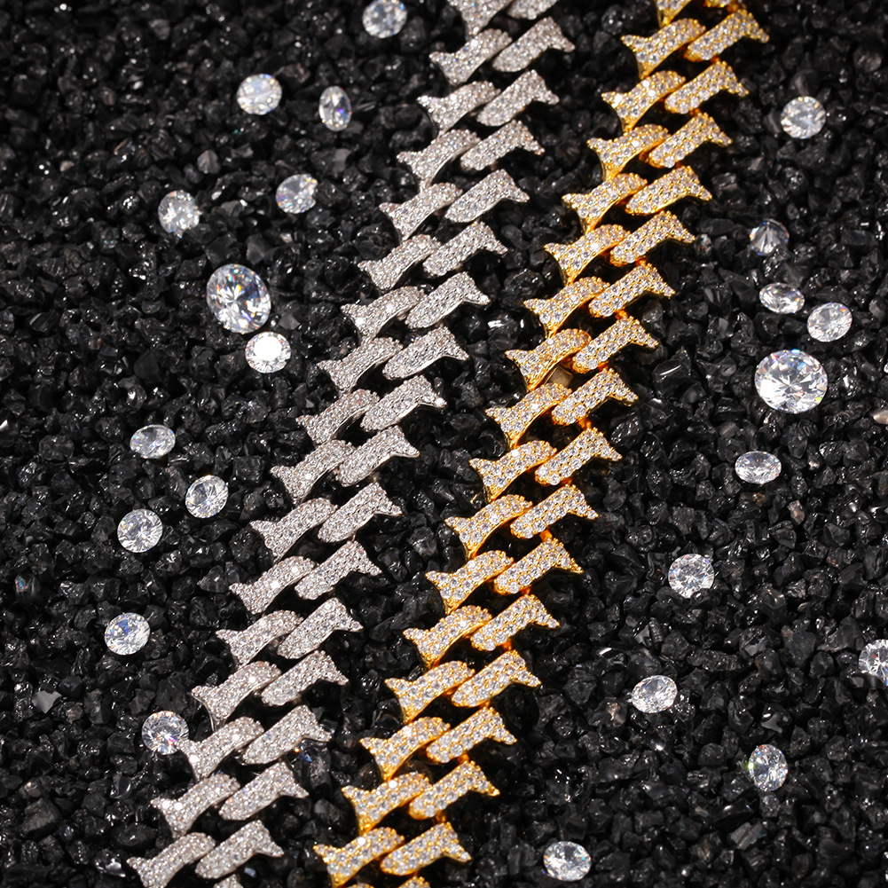 (Thorn style) diamond gold-plated Cuban chain