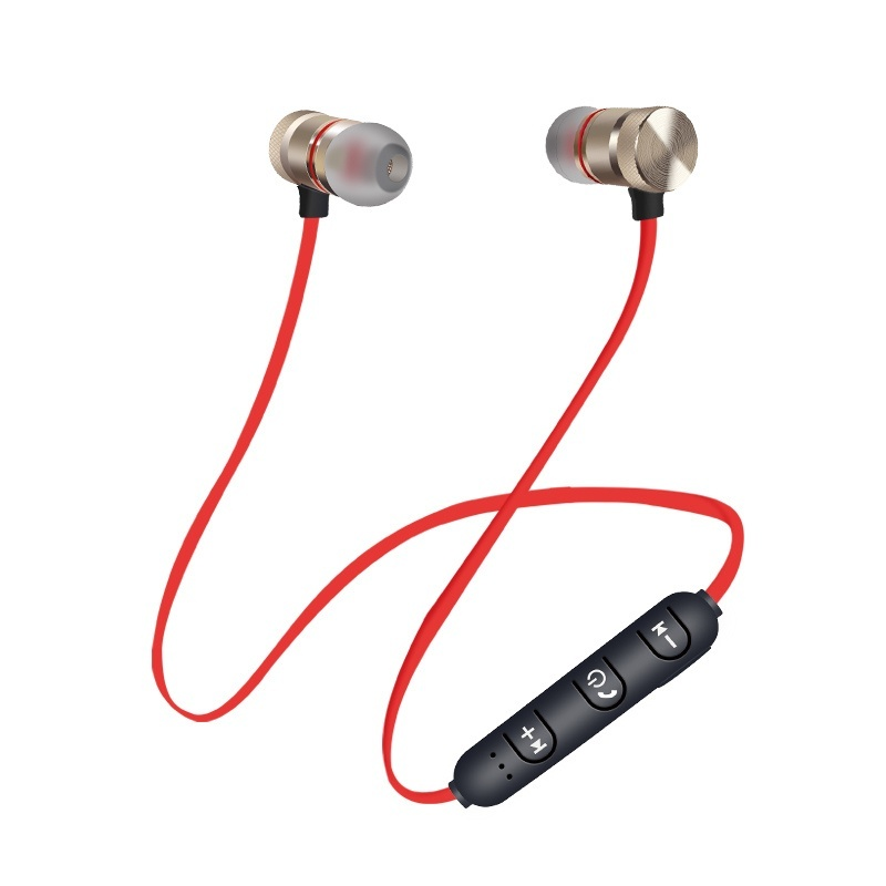 2019 New Super Bass Stereo Sports Running Sweatproof Bluetooth Earphones Sport Bluetooth Headset Earbuds Magnetic Earpiece with Microphone