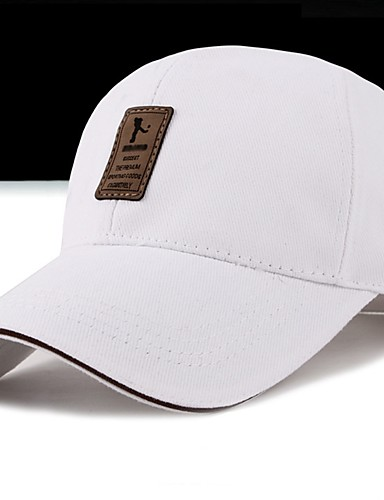 Unisex Cotton Baseball Cap-Print Spring Fall White