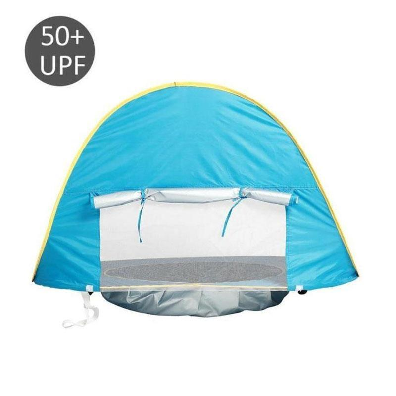 Compact 50+UPF Sun Shelter Baby Beach Tent with Pool and Fluorescent Strap