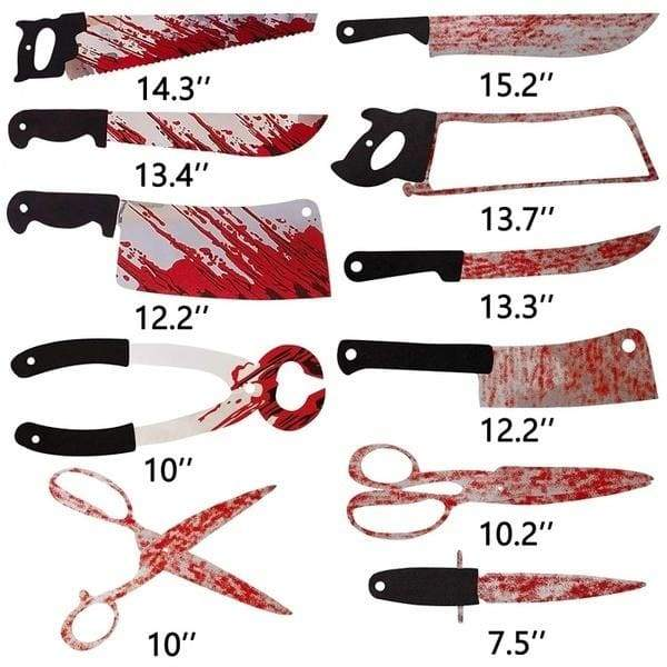 Halloween Decor Bloody Weapons Garland Banner Halloween Zombie Vampire Party Decorations Supplies