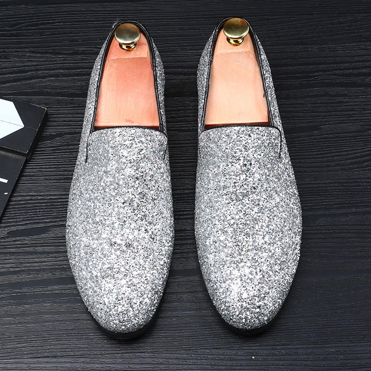 Sequins with Business Shoes