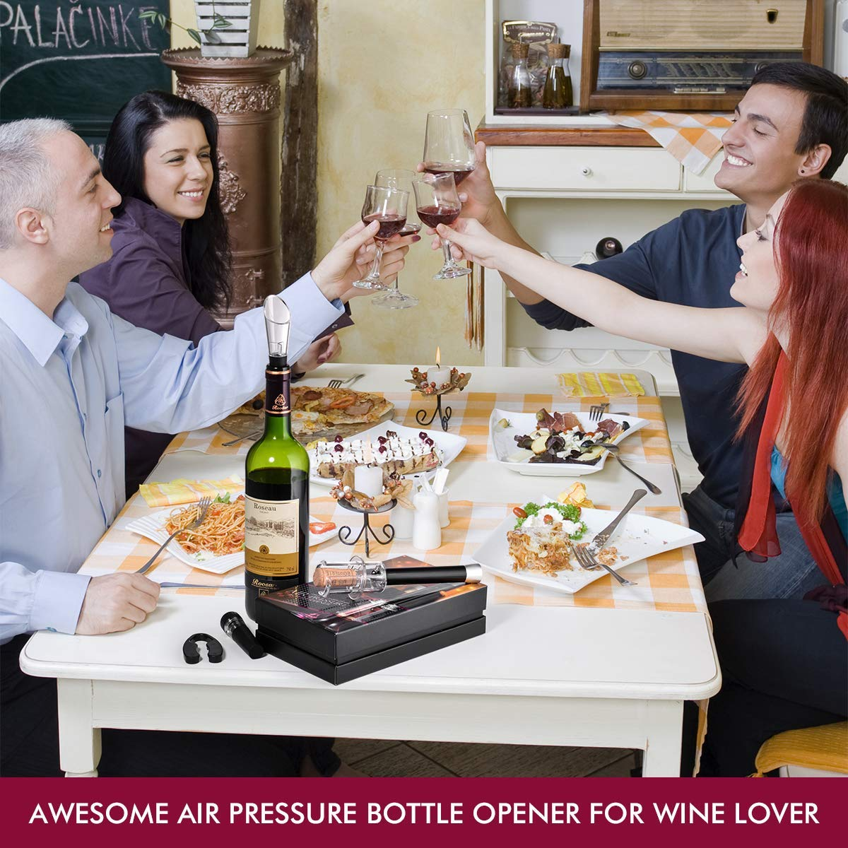 Wine Air Pressure Pump Bottle Opener