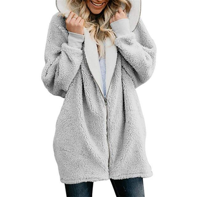 Winter Warm Cardigans Faux Fur