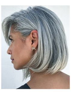 2020 New Gray Hair Wigs For African American Women Hairspray Wigs Human Hair Wigs Near Me Gray To Blonde Silver Full Lace Wig Human Hair Brown And Gray Hair