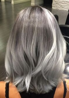 2020 New Gray Hair Wigs For African American Women Stevie Nicks Wig Grey With Dark Roots Grey Hair Maintenance Shades Of Grey Hair Young Grey Hair