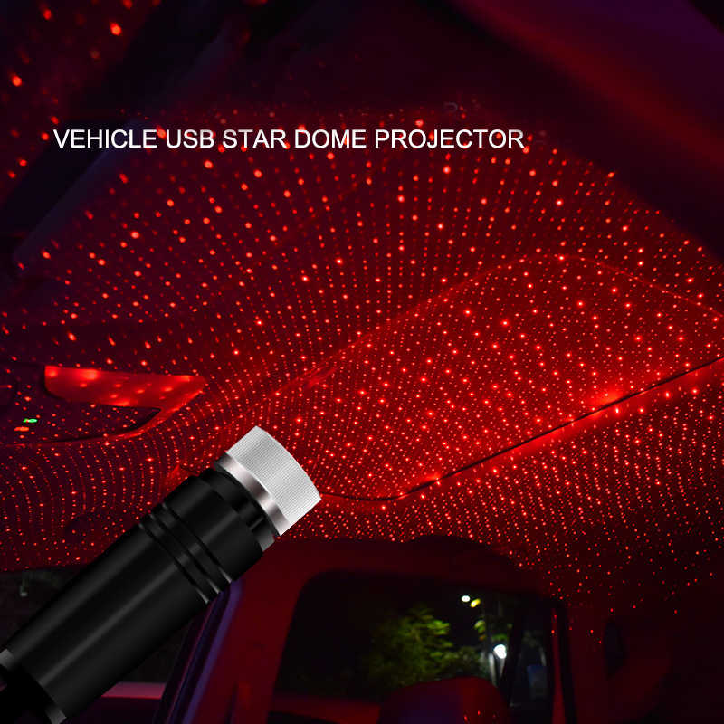 USB star night light, Usting flexible USB night light is suitable for all car ceiling roof star lights indoor environment atmosphere, suitable for bedroom, party, wall