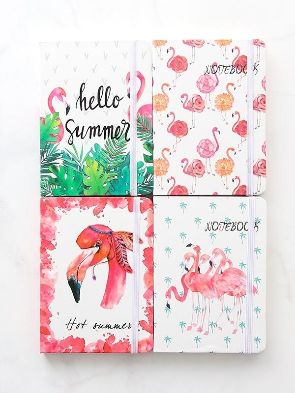 Random Flamingo Cover Notebook 1pc