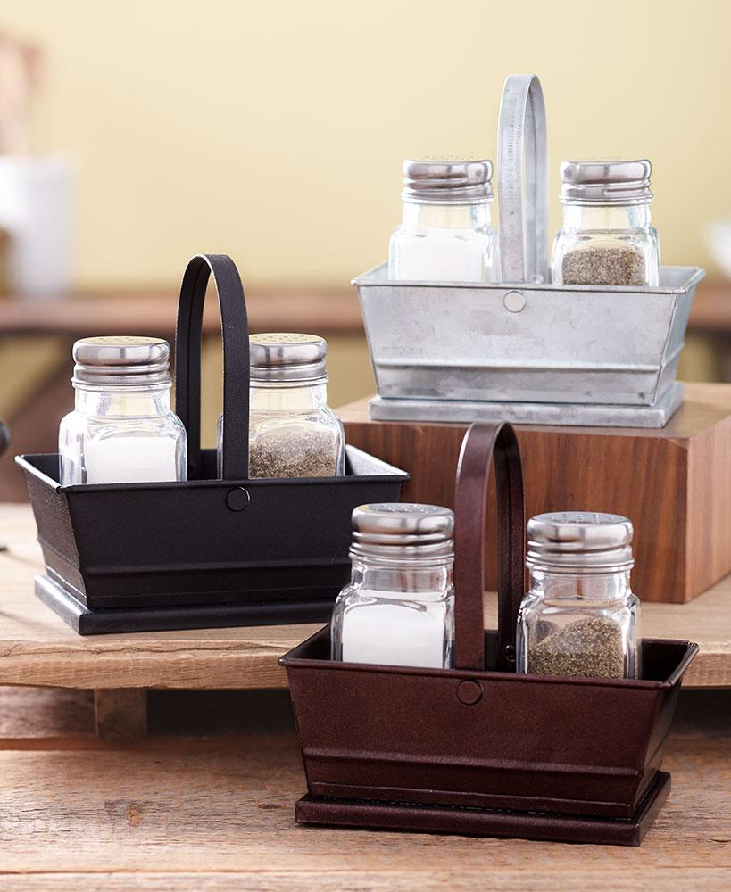 Classic Salt and Pepper with Caddy